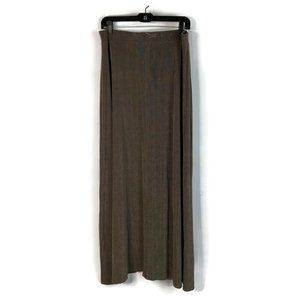 Travelers By Chicos Full Skirt Brown Maxi Stretch